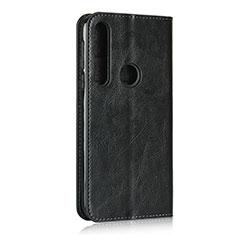 Leather Case Stands Flip Cover Holder for Motorola Moto G8 Play Black