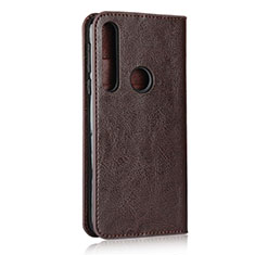 Leather Case Stands Flip Cover Holder for Motorola Moto G8 Play Brown