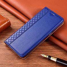 Leather Case Stands Flip Cover Holder for Motorola Moto G9 Play Blue