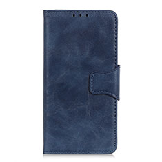 Leather Case Stands Flip Cover Holder for Motorola Moto One Fusion Blue