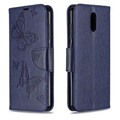 Leather Case Stands Flip Cover Holder for Nokia 2.3 Blue