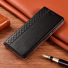 Leather Case Stands Flip Cover Holder for Nokia 2.4 Black