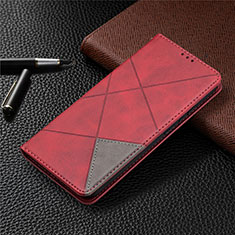 Leather Case Stands Flip Cover Holder for Nokia 3.4 Red