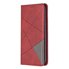 Leather Case Stands Flip Cover Holder for Nokia 5.3 Red