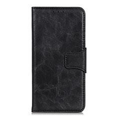 Leather Case Stands Flip Cover Holder for Nokia C1 Black