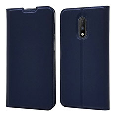 Leather Case Stands Flip Cover Holder for OnePlus 7 Blue