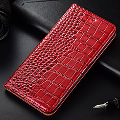 Leather Case Stands Flip Cover Holder for OnePlus 7T Pro Red