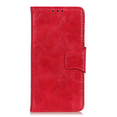 Leather Case Stands Flip Cover Holder for OnePlus Nord Red