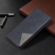 Leather Case Stands Flip Cover Holder for Oppo A15 Black