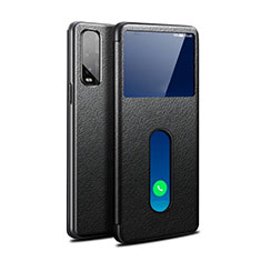 Leather Case Stands Flip Cover Holder for Oppo Find X2 Black