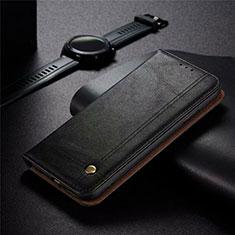 Leather Case Stands Flip Cover Holder for Realme 5 Pro Black