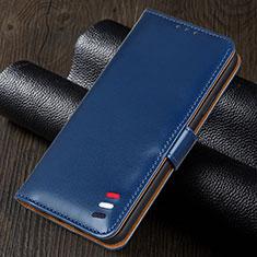 Leather Case Stands Flip Cover Holder for Realme 5i Blue
