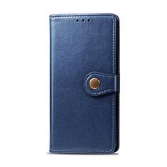 Leather Case Stands Flip Cover Holder for Realme 6i Blue