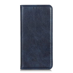Leather Case Stands Flip Cover Holder for Realme 7i Blue