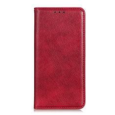 Leather Case Stands Flip Cover Holder for Realme C11 Red