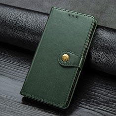 Leather Case Stands Flip Cover Holder for Samsung Galaxy A21s Green