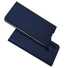 Leather Case Stands Flip Cover Holder for Samsung Galaxy A30 Blue
