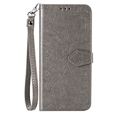 Leather Case Stands Flip Cover Holder for Samsung Galaxy A51 5G Gray