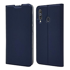 Leather Case Stands Flip Cover Holder for Samsung Galaxy A60 Blue