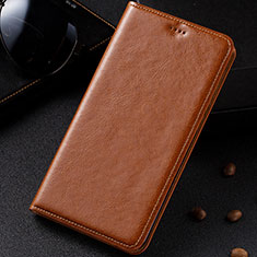 Leather Case Stands Flip Cover Holder for Samsung Galaxy M60s Orange