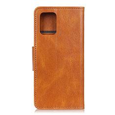 Leather Case Stands Flip Cover Holder for Samsung Galaxy S10 Lite Orange