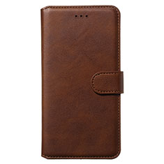 Leather Case Stands Flip Cover Holder for Samsung Galaxy S20 5G Brown