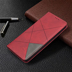 Leather Case Stands Flip Cover Holder for Samsung Galaxy S20 FE 5G Red