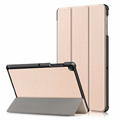 Leather Case Stands Flip Cover Holder for Samsung Galaxy Tab S5e 4G 10.5 SM-T725 Gold