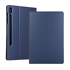 Leather Case Stands Flip Cover Holder for Samsung Galaxy Tab S6 10.5 SM-T860 Blue