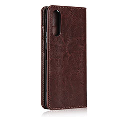 Leather Case Stands Flip Cover Holder for Sony Xperia 10 II Brown