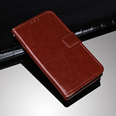 Leather Case Stands Flip Cover Holder for Sony Xperia 10 Plus Brown