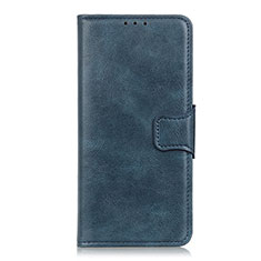 Leather Case Stands Flip Cover Holder for Sony Xperia 5 Blue