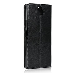 Leather Case Stands Flip Cover Holder for Sony Xperia 8 Lite Black