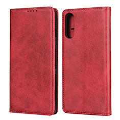 Leather Case Stands Flip Cover Holder for Sony Xperia L4 Red