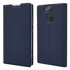 Leather Case Stands Flip Cover Holder for Sony Xperia XA2 Plus Blue