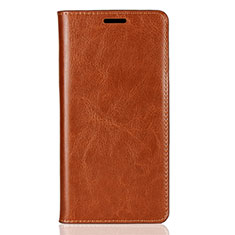 Leather Case Stands Flip Cover Holder for Sony Xperia XZ2 Orange