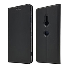 Leather Case Stands Flip Cover Holder for Sony Xperia XZ3 Black