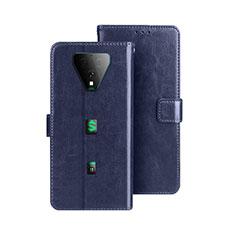 Leather Case Stands Flip Cover Holder for Xiaomi Black Shark 3 Blue