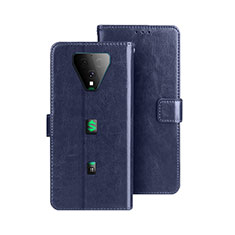 Leather Case Stands Flip Cover Holder for Xiaomi Black Shark 3 Pro Blue