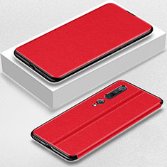Leather Case Stands Flip Cover Holder for Xiaomi Mi 10 Pro Red