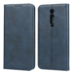 Leather Case Stands Flip Cover Holder for Xiaomi Mi 9T Blue
