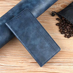 Leather Case Stands Flip Cover Holder for Xiaomi Poco X3 NFC Blue