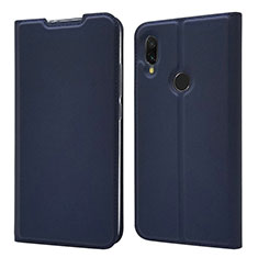Leather Case Stands Flip Cover Holder for Xiaomi Redmi 7 Blue
