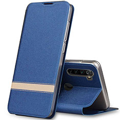 Leather Case Stands Flip Cover Holder for Xiaomi Redmi Note 8 Blue