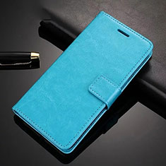 Leather Case Stands Flip Cover Holder for Xiaomi Redmi Note 8 Pro Sky Blue