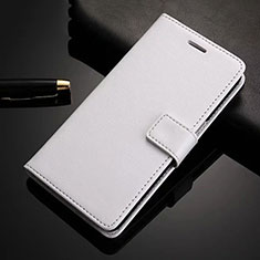 Leather Case Stands Flip Cover Holder for Xiaomi Redmi Note 8 Pro White