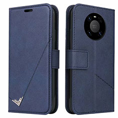 Leather Case Stands Flip Cover K06 Holder for Huawei Mate 40 Pro Blue