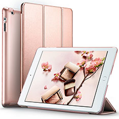 Leather Case Stands Flip Cover L01 for Apple iPad 4 Rose Gold