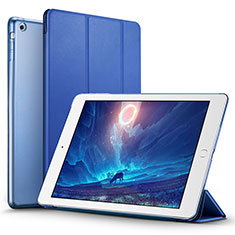 Leather Case Stands Flip Cover L01 for Apple iPad Air Blue