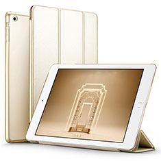 Leather Case Stands Flip Cover L01 for Apple iPad Air Gold